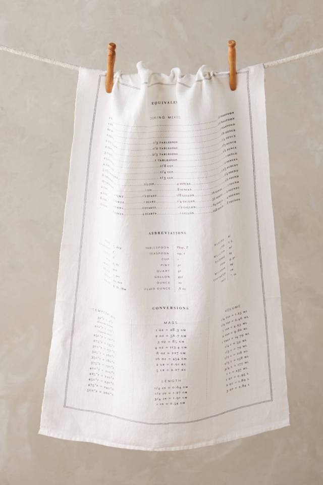 Cook's Measurements Dish Towel