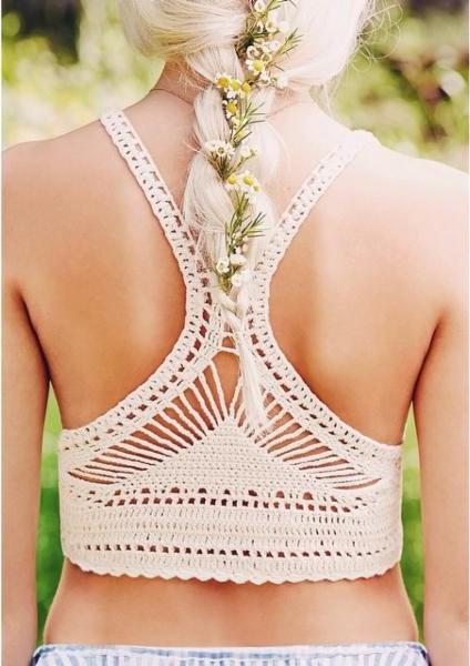 Ecote Vanessa Crochet Bra Top