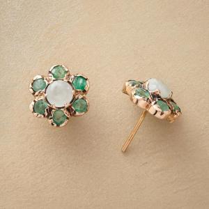 Anik Kastan Emerald Petal Earrings