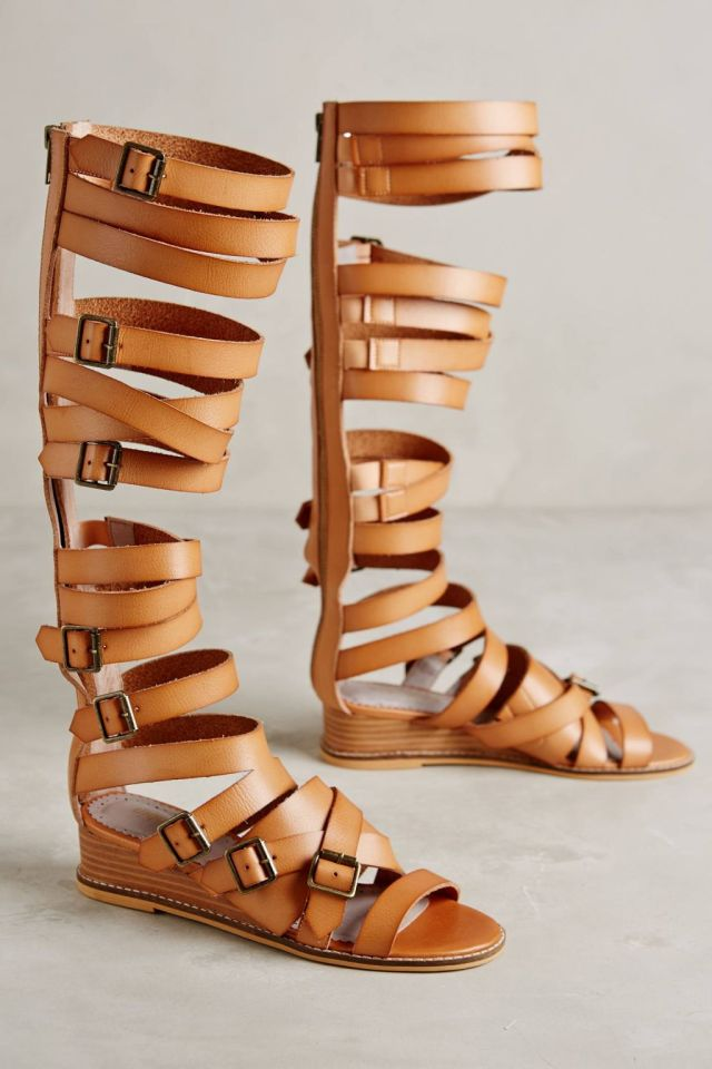 Margaret Gladiator Wedges by Farylrobin
