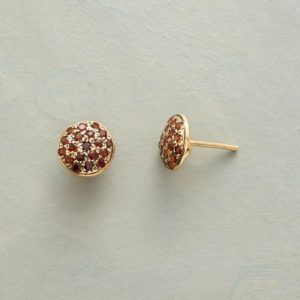 Anik Kastan Garnet Go Round Earrings
