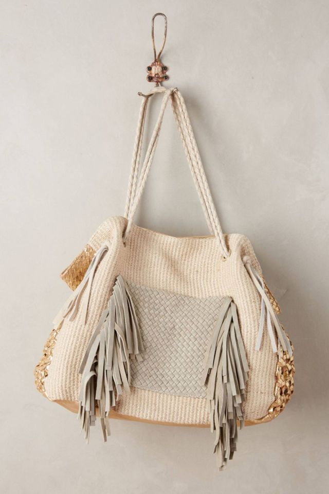 Goldcoast Fringed Tote by Claramonte