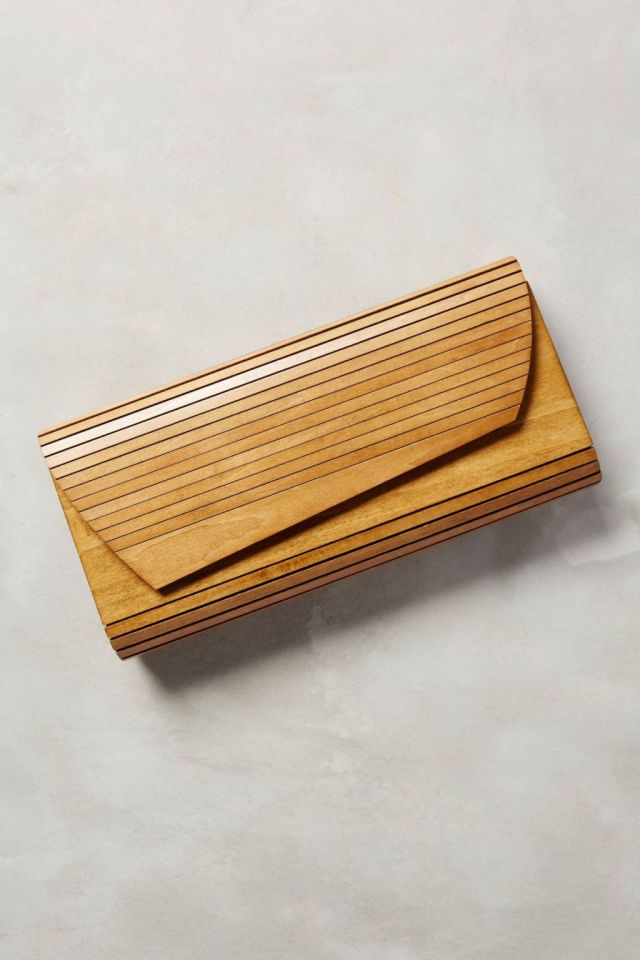 Hardwood Clutch by Inge Christopher