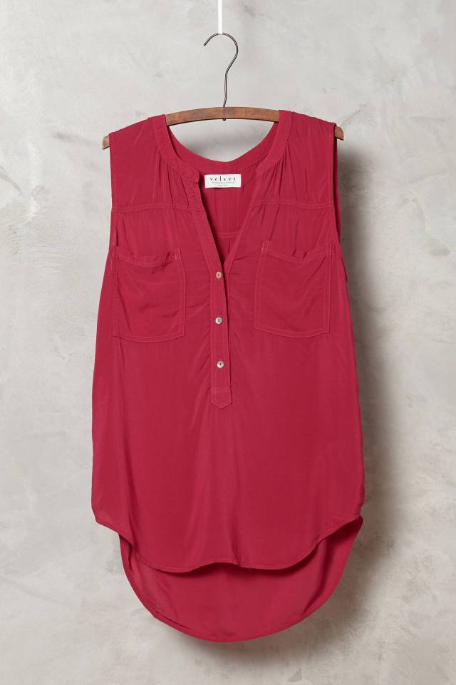 Henley Pocket Tank by Velvet by Graham and Spencer