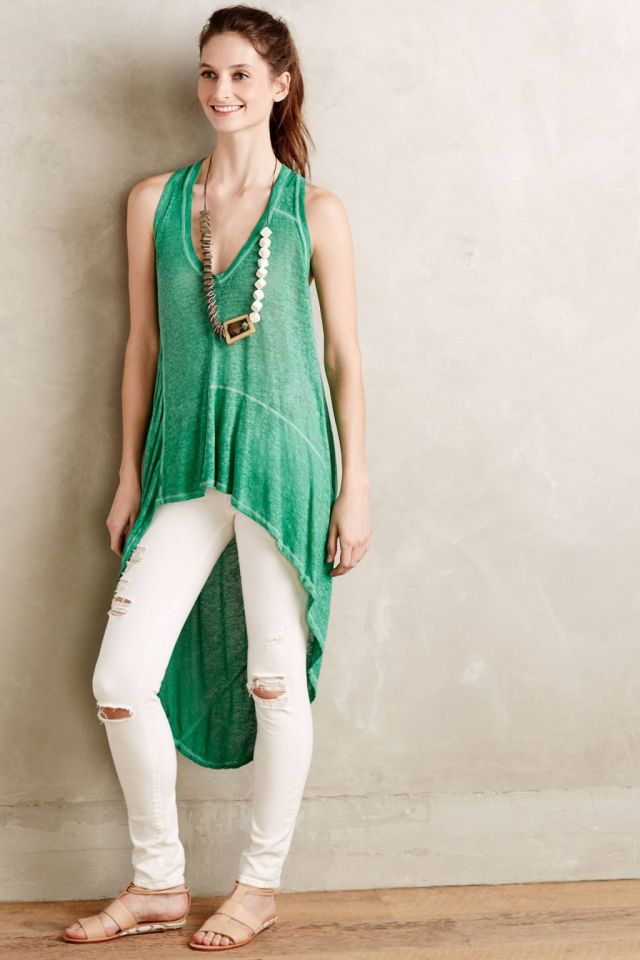High-Low Linen Tank by Pete & Greta