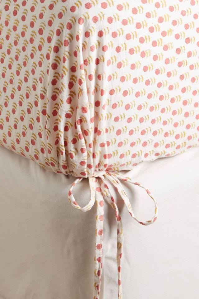 Rust Tiny Booti Fitted Sheet by Kerry Cassill