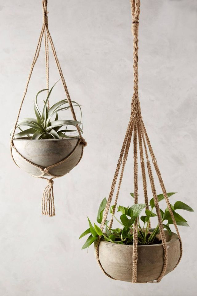 Kiri Wood Hanging Planter