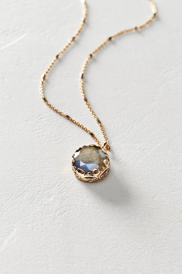 Labradorite Pendant Necklace in 14k Rose Gold by Arik Kastan