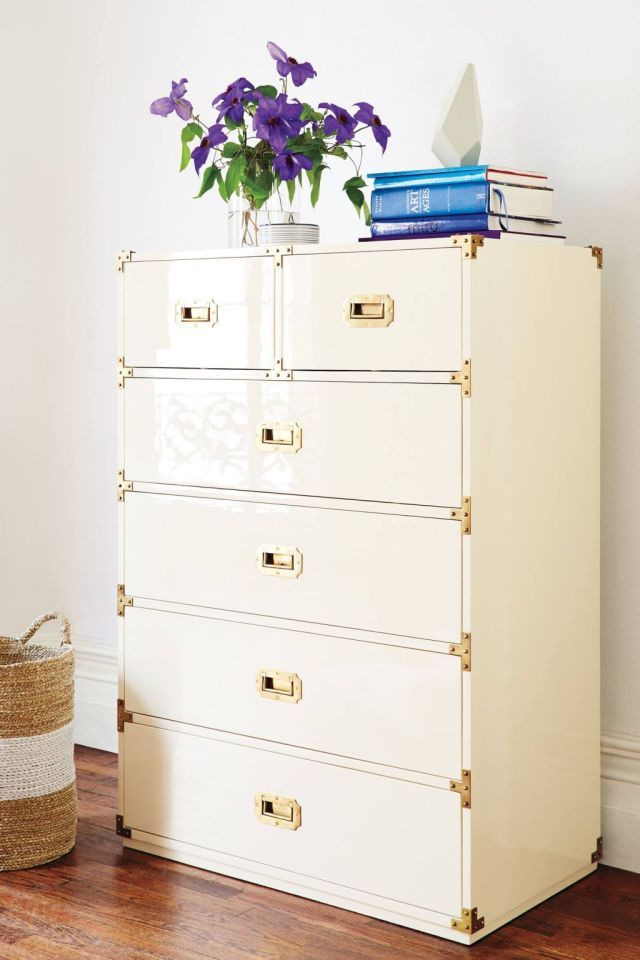 Lacquered Wellington Six Drawer Dresser