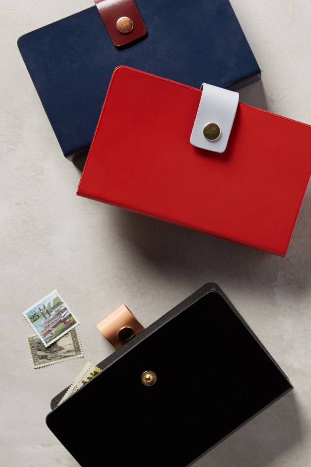 Leather Envelope Accordian Folder