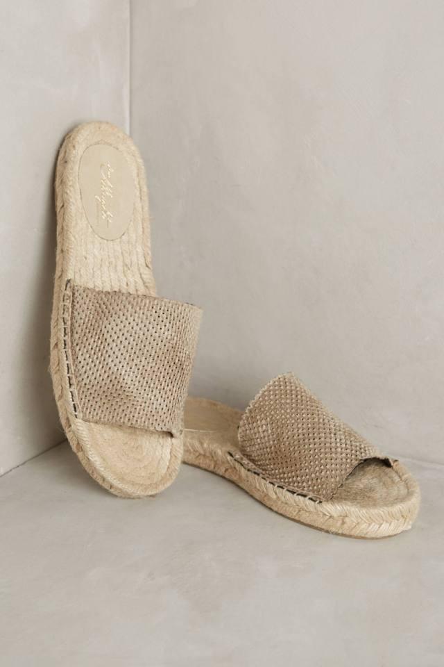 Silk Espadrille Slides by Miss Albright