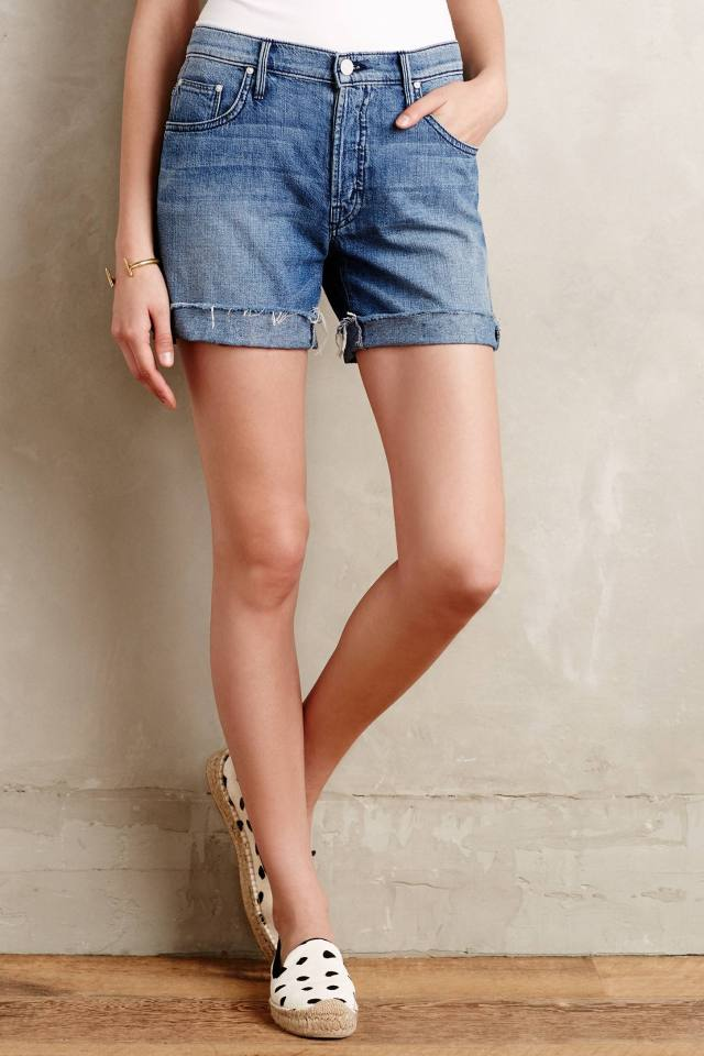 Loosey Fray Shorts by Mother