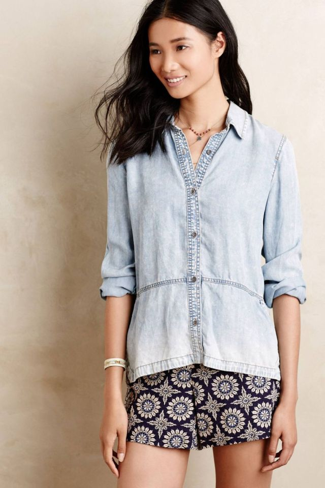 Ombre Chambray Buttondown by Holding Horses