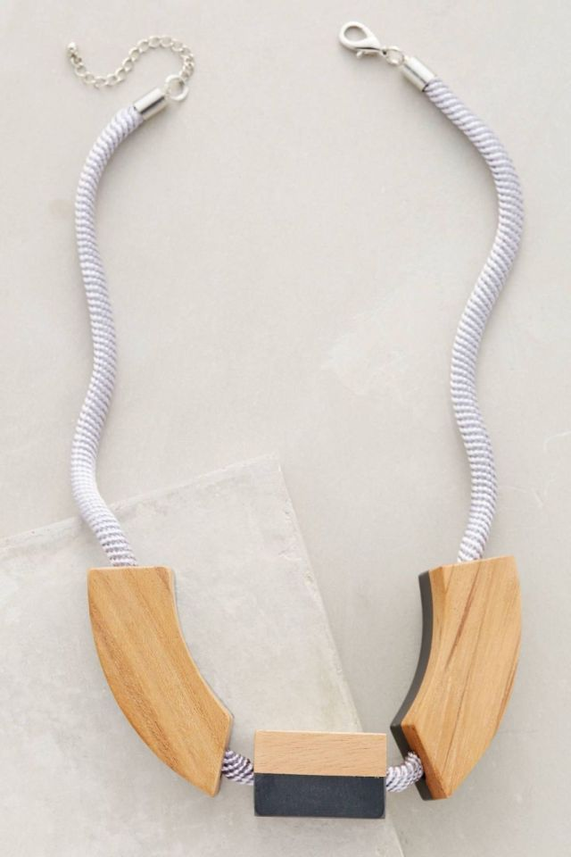Pieced Wood Necklace by Elk