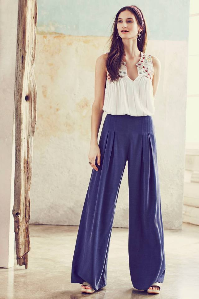 Pleated High-Rise Wide-Legs by Elevenses
