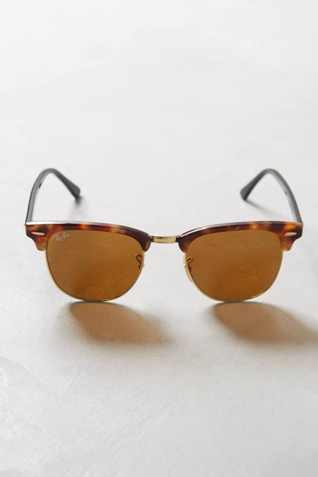 Clubmaster Fleck Sunglasses by Ray-Ban