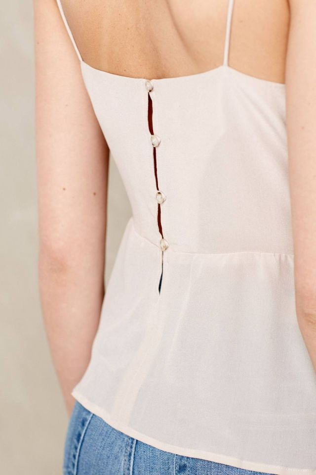 Silk Peplum Camisole by Bella Luxx
