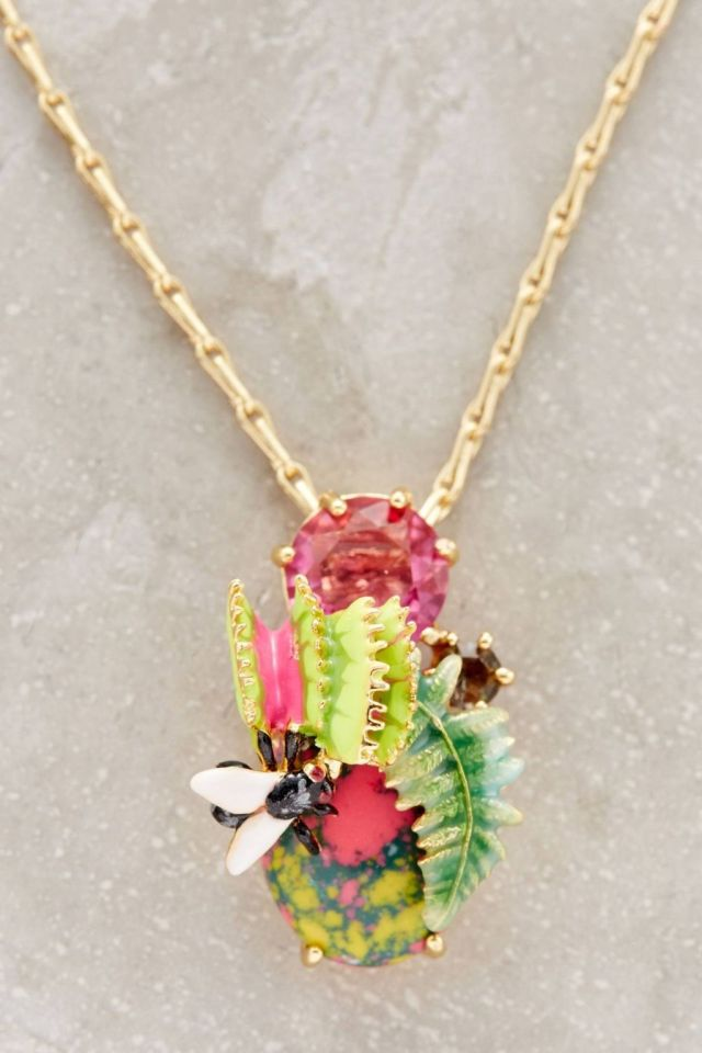 Subtropical Pendant Necklace by Les Nereides