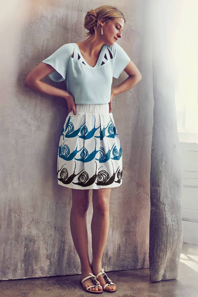 Swirled Snail Skirt by Maeve