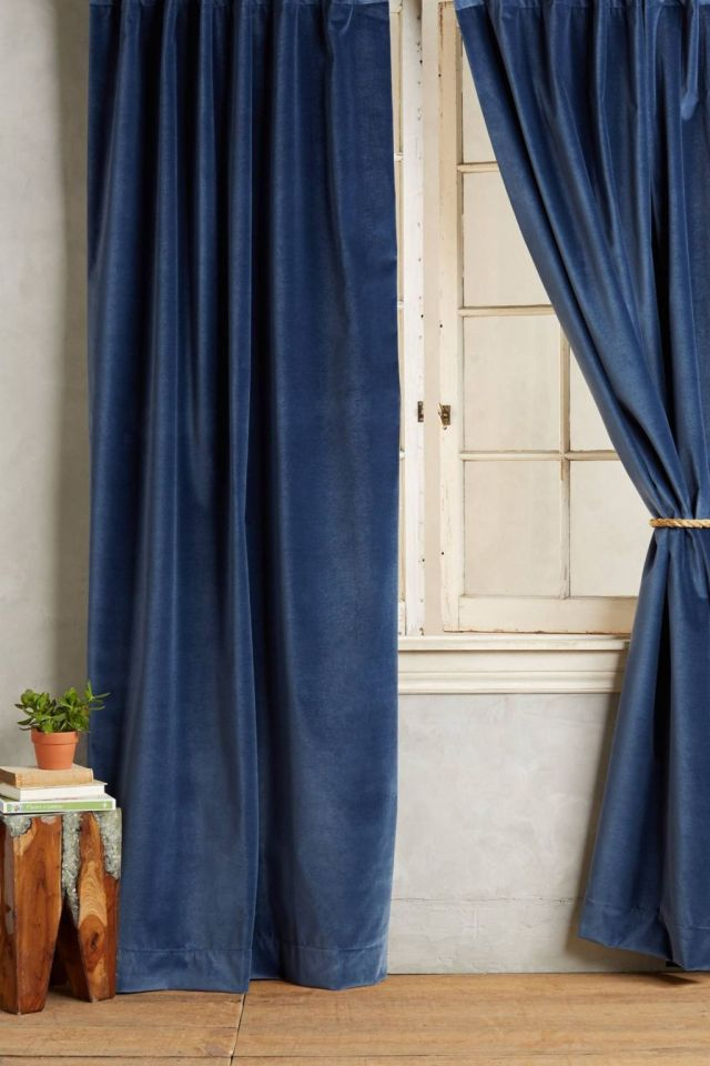 Washed Velvet Curtain