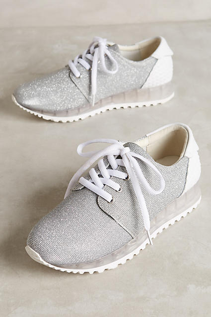 Anthropologie 67 Collection Shimmered Elvion Sneakers