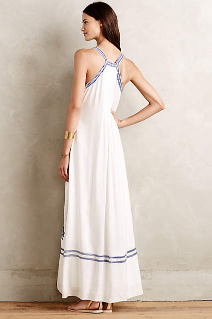 Aska Embroidered Maxi Dress by Ranna Gill