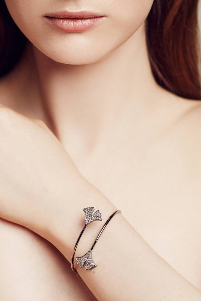 Diamond Gingko Cuff by Renee Sheppard