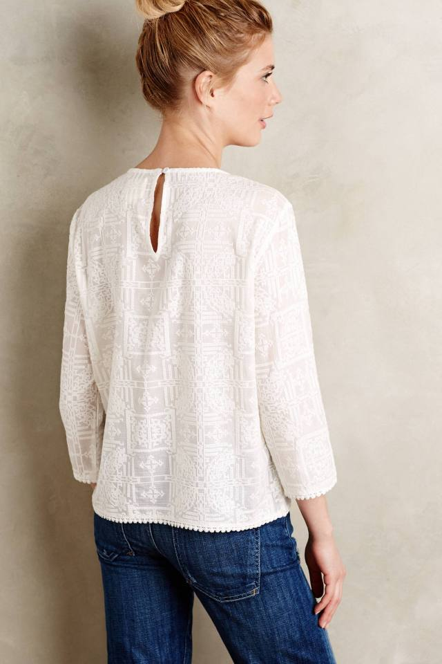 Embroidered Aruna Top by Maeve