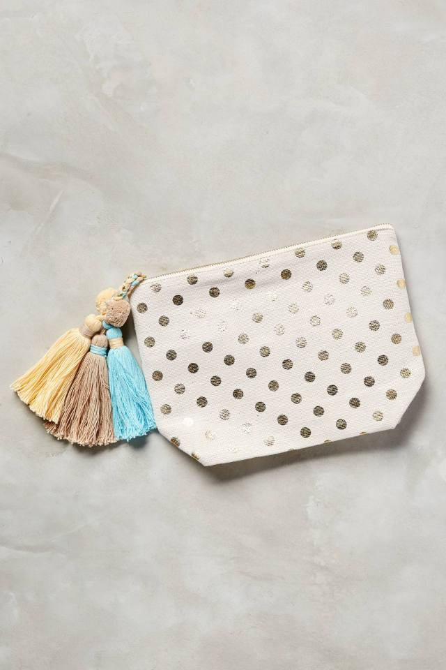 Gilded Dots Pouch