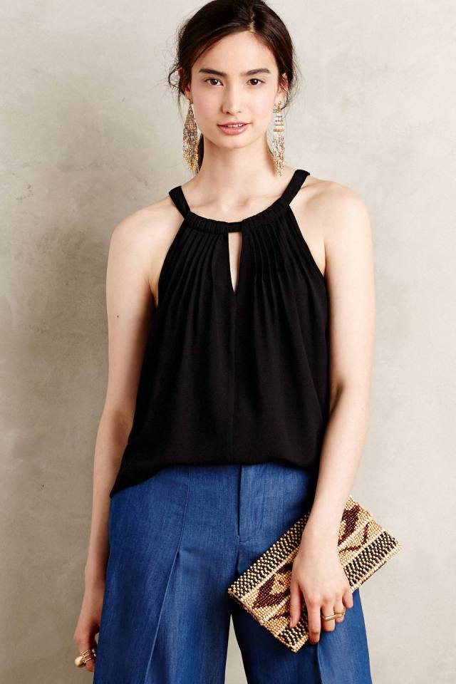 Pintucked Halter Tank by Sunday in Brooklyn