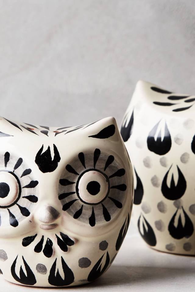 Folk Owl Salt & Pepper Shakers by Gorky Gonzalez