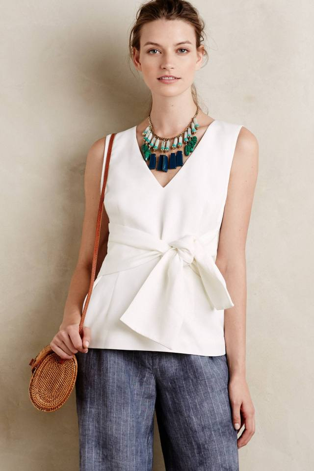Tied V-Neck Tank by Keepsake
