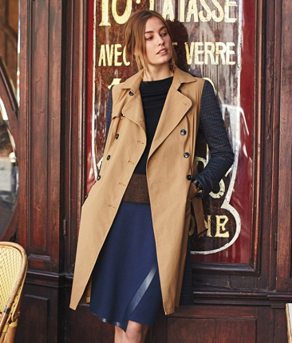Colorblocked Trench Coat by Harlyn