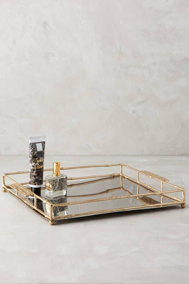 Brass Bamboo Tray