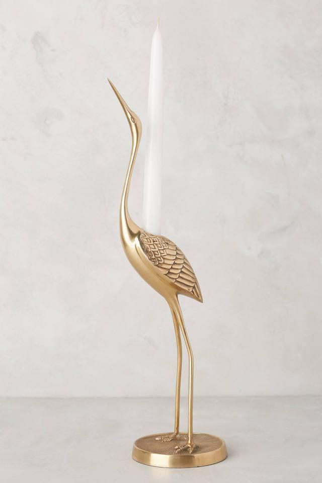 Brass Crane Taper Holder