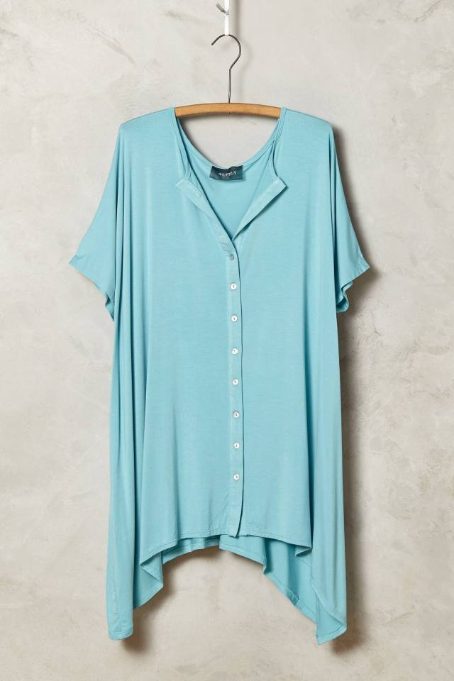 Button-Front Tee