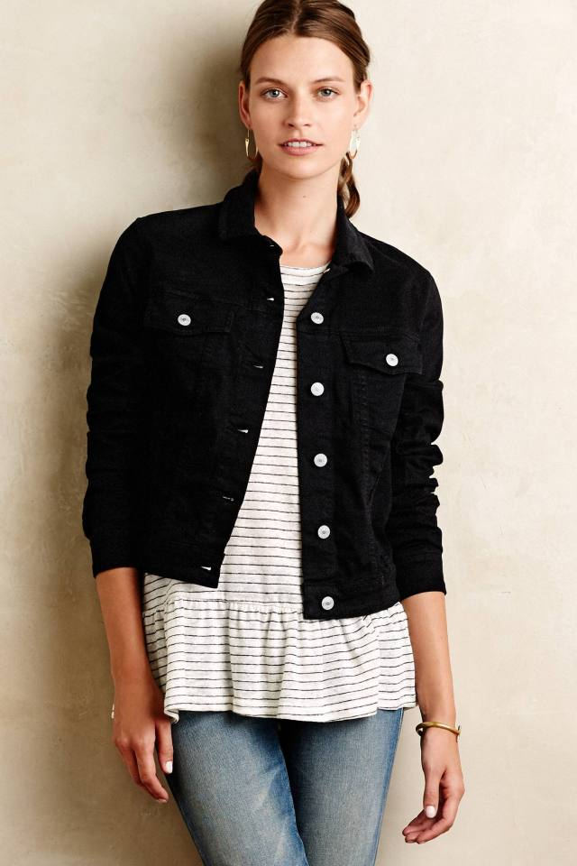 True Black Denim Jacket by Jean Shop