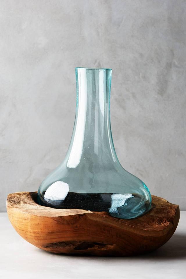Teak & Bottle Vase