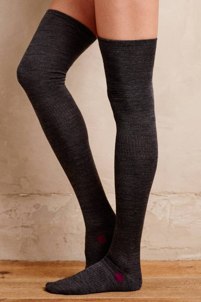 Dotted Thigh-High Socks by Hansel from Basel