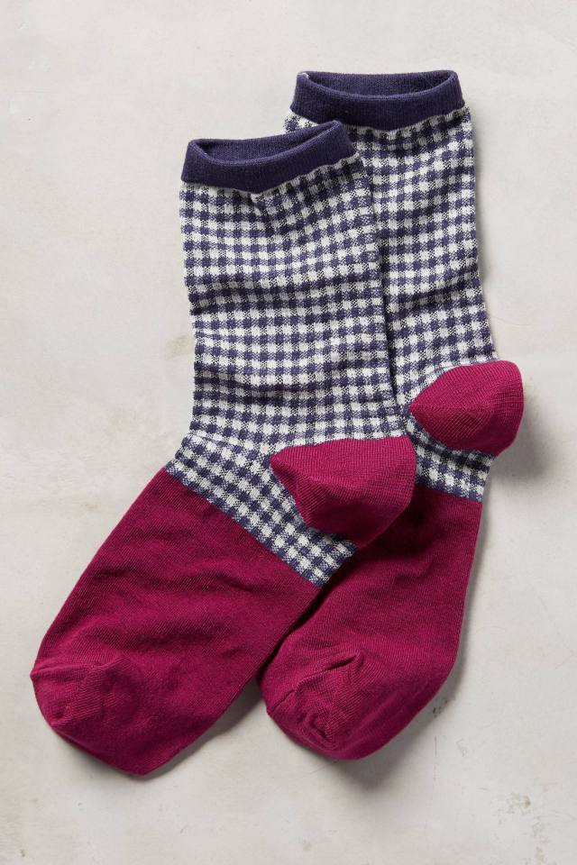 Gingham Crew Socks by Tintoretta