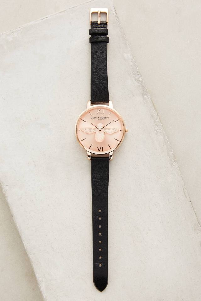 Rosegold Moulded Bee Watch