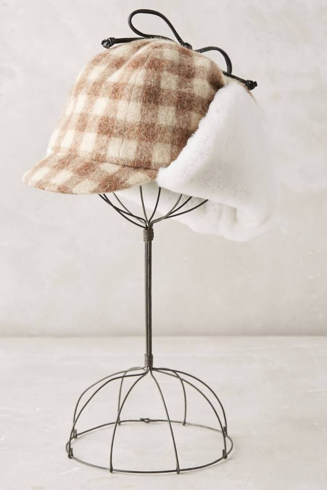 Checkered Deerstalker Cap by Eugenia Kim