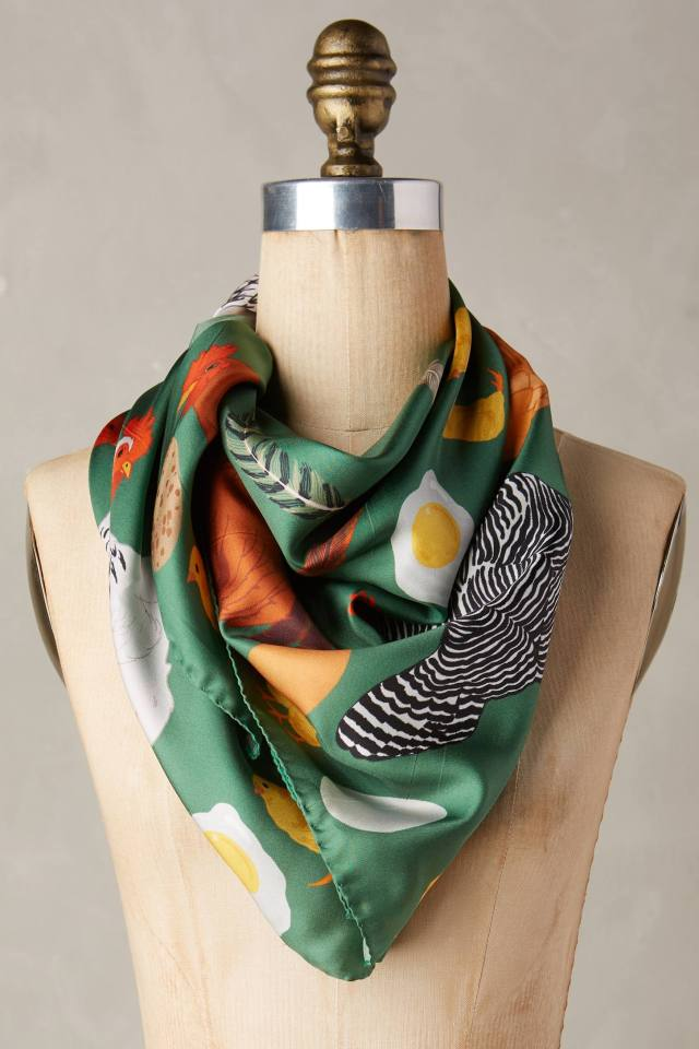 Chicken & Egg Scarf by Karen Mabon