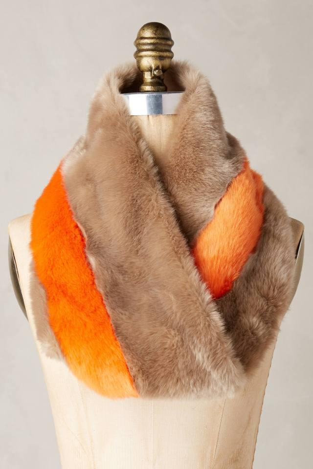 Hayden Stripe Faux-Fur Cowl by Eugenia Kim