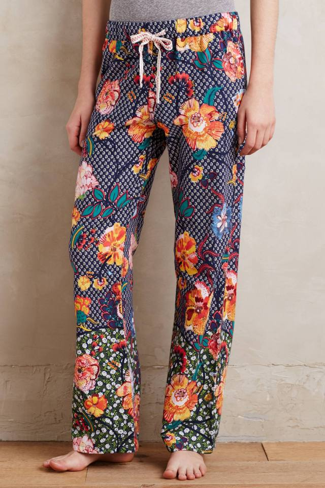 Night Garden Flannel Sleep Pants by Lilka