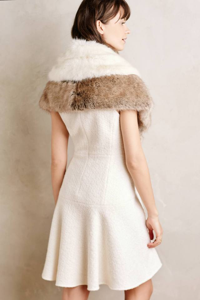 Ava Faux-Fur Capelet by Helen Moore