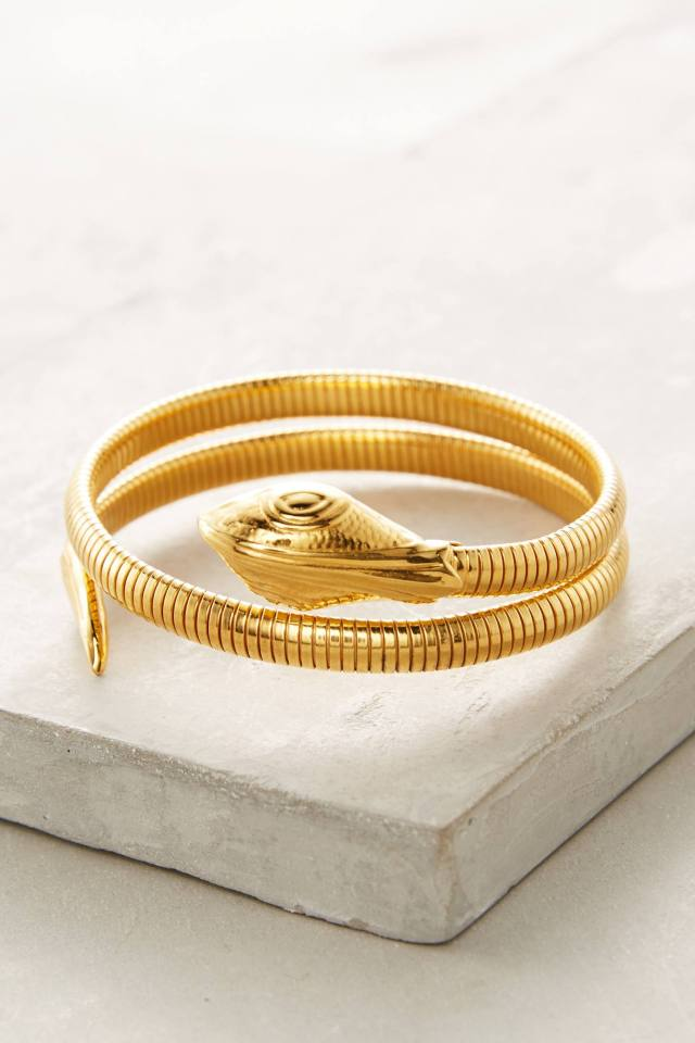 Coiled Serpent Cuff by Gas Bijoux