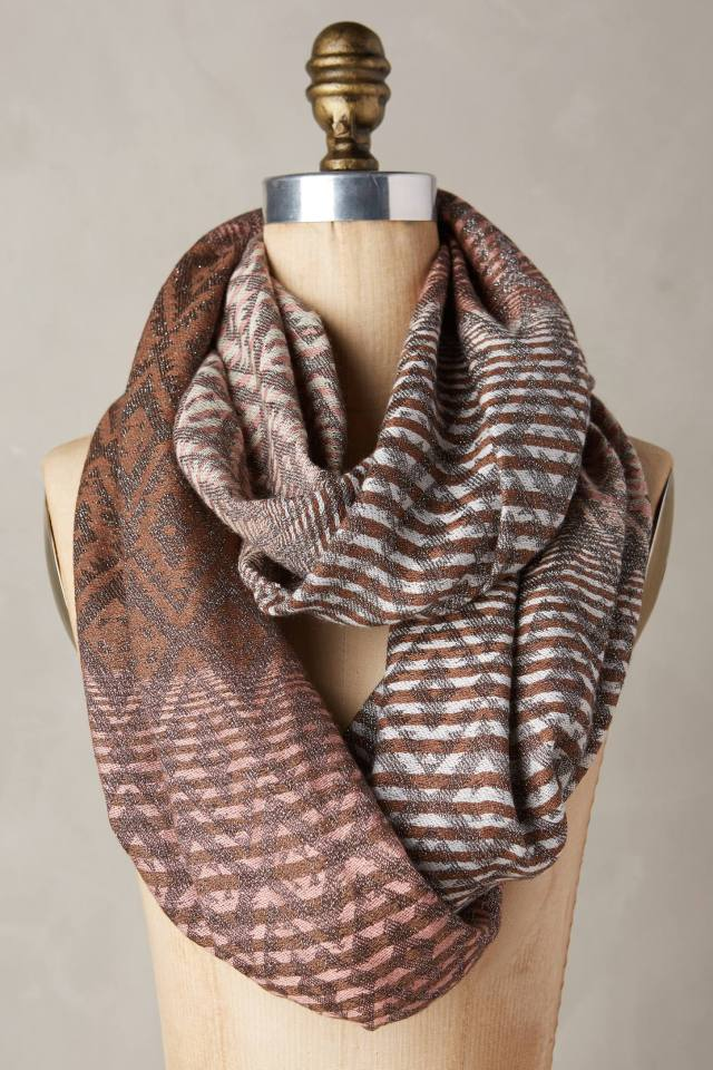 Luster Stripe Infinity Scarf