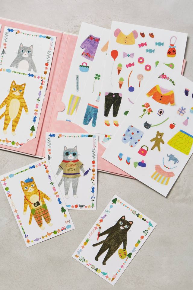 Changing Fashions Sticker Dolls by Djeco