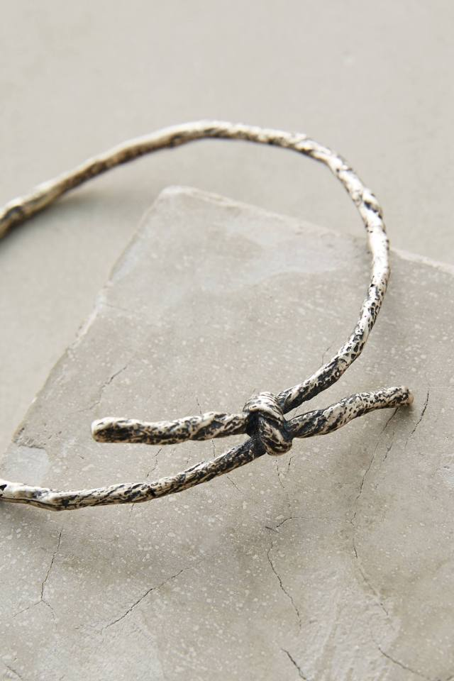 Knotted Memento Bangle by Carrie K.